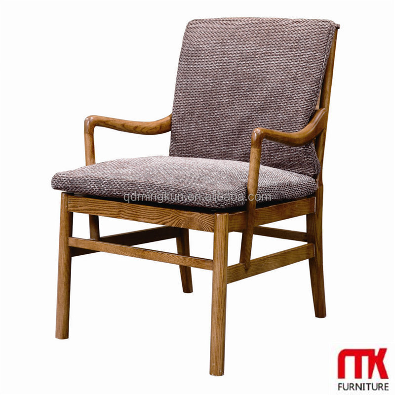Lasted Long Hot Sale Wooden Frame Armchair With Fabric