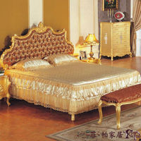Louis XVI antique home furniture - solid wood hand carving bedroom set
