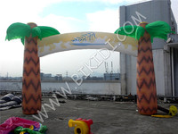 Promotion palm tree inflatable entrance arch for advertising