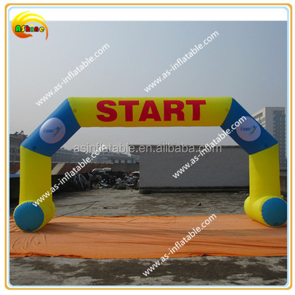 Advertising inflatable racing arch entrance archs finish line arch with the velcro