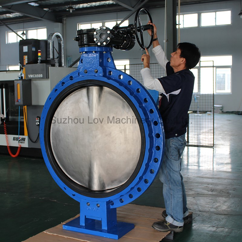 Large Size Cast Iron Wafer Flange Butterfly Valve For Sea Water