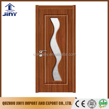 best price simple bedroom entry pvc hdf glass door designs interior solid wood pvc doors