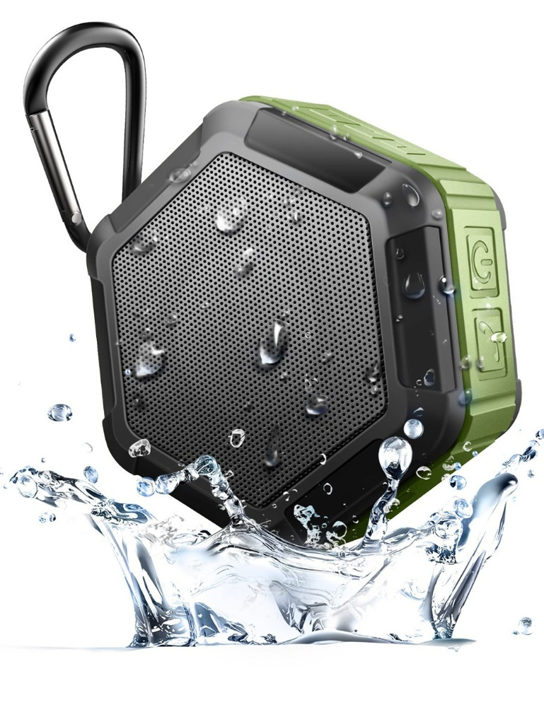 hexagon waterproof Bluetooth speaker IP65 portable wireless speaker