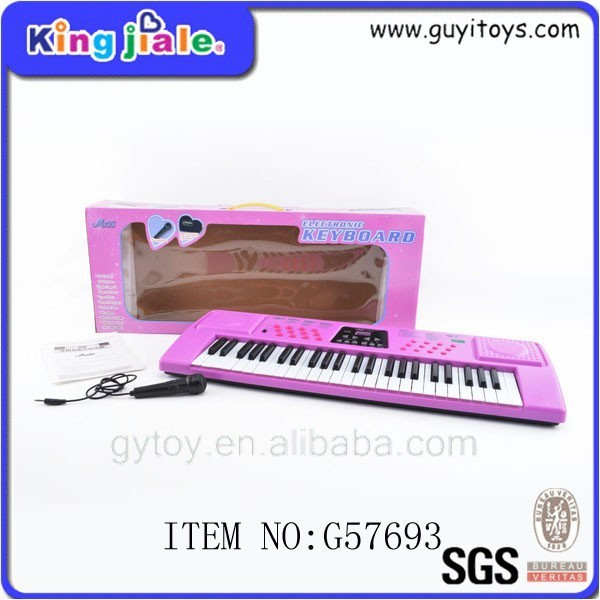 China wholesale kids 37 Keys wooden mini baby toy piano