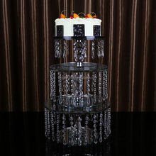 Factory Popular low price wedding crystal cake stands for wedding decoration