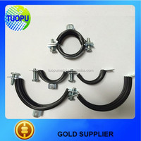 China supply rubber coated pipe clamps,rubber sleeve pipe clamp,rubber lined pipe clamp