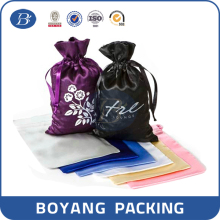hair extension packaging satin bag