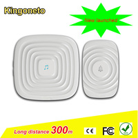 Beautiful hot sale wireless rainwater-proof doorbell H4 model with 52 ringtones up to 300m working range with battery