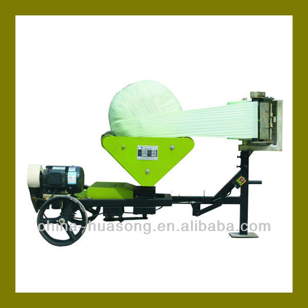 Silage round bale film wrap machine