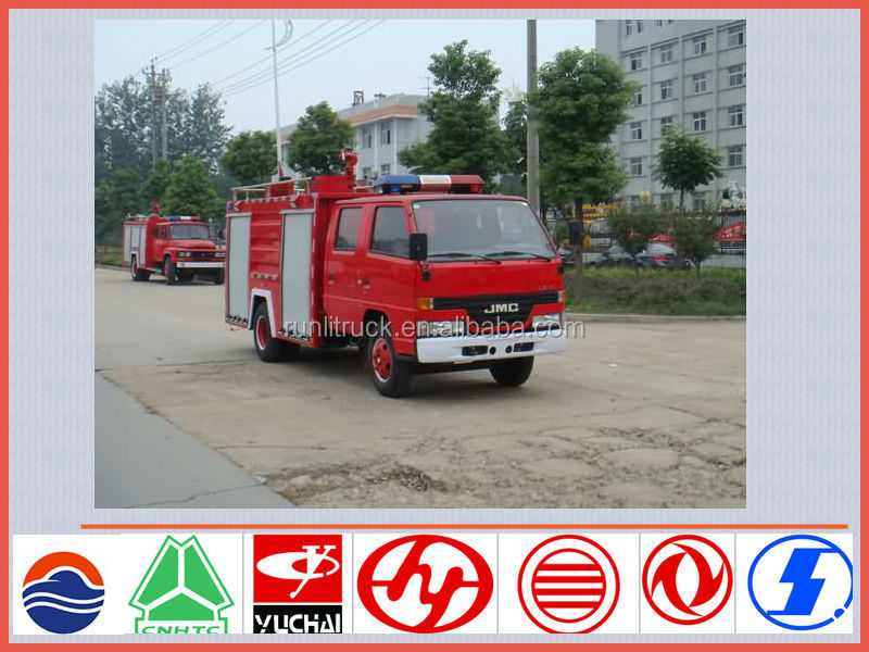 China new fire truck manufacture for JMC 2.5ton water tanker fire fighting vehicle sale for kenya