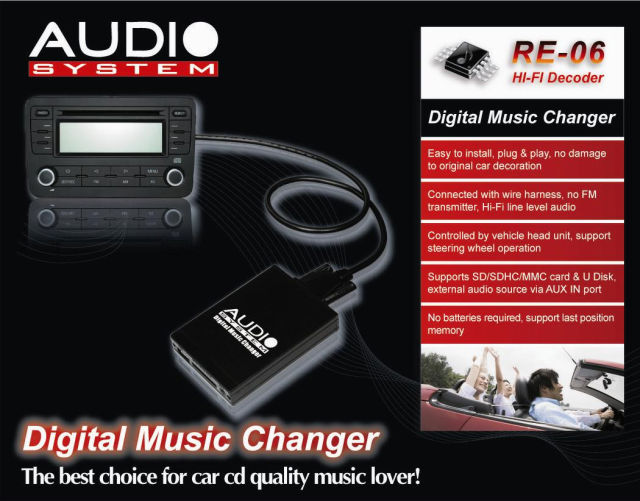 Audio System Usb Sd Aux Adapter