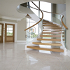Curved Staircase Glass And Wood Indoor