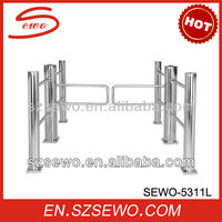 #304 Stainless Steel TCP/IP Manual Access Control Swing Barrier Gate