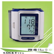 COCET Professional Sphygmomanomete, Automatic Digital Wrist Blood Pressure Monitor with RoHS, CE nad ISO Approved