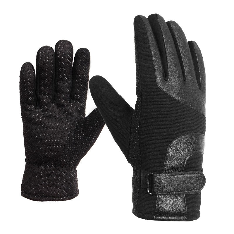 Queena Wholesale Winter Thicken Outdoor Windproof Sports Bicycle Gloves For Men