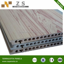 Terracotta Facade Panel with 18mm Thickness and 1200mm Length