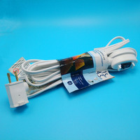 White Color Switch On Off Remote control extension cord plug female