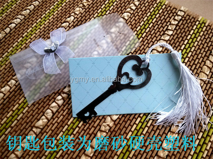 """Key to My Heart"" Heart-Shaped Key Bookmark Wedding&Bridal Shower Favors Party Giveaway Gift For Guest"