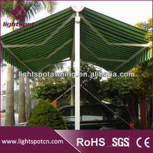Hot sale retractable car parking awning/double sided awnings for sale