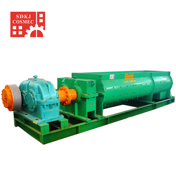 high production capacity double shaft clay mixer