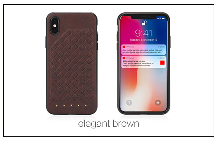 New development high quality weave PU leather back cover  phone case for Iphone  X 5.8 2018
