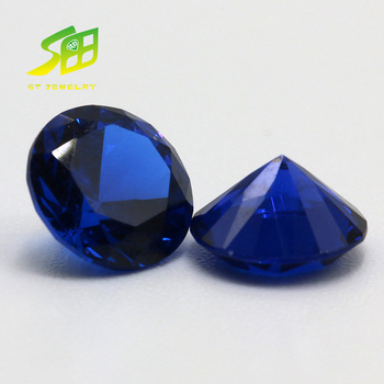 Dark blue 6*8mm oval 34# Synthetic Sapphire