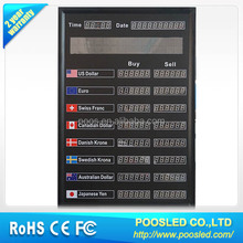 8 rows led interest rate board \ bank rate \ bank rate banner sign