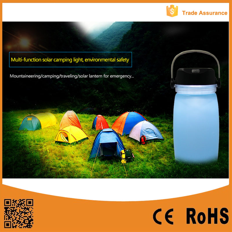 New Arrival Factory Price Waterproof Silicone Inflatable Solar Lantern for Camping