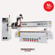 Auto tool changer cnc router engraver and cutting milling machine