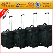 Guangzhou factory supply 4 wheels carry on luggage bags at reasonable price