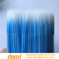 WHITE MIXED BLUE PET HOLLOW TAPERED brush FILAMENTS
