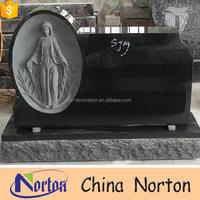 European unique engraving figure marble grave monument NTGT-024Y