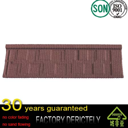 100% natural color sand stone metal roofing tiles