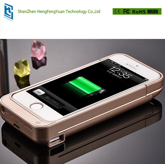 External Battery Backup Charging Power Bank 4200mAh Case Cover For Apple iPhone 5 5s 5C Portable Phone Cases Powerbank