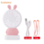 Cartoon design cute rabbit bear USB led mini handy fan with colorful lights