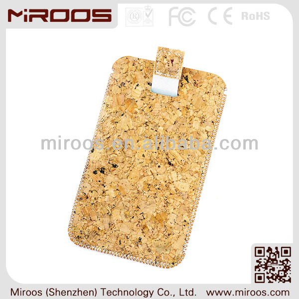 2014 stylish for iphone 5 custom designer cork leather mobile phone pouch case