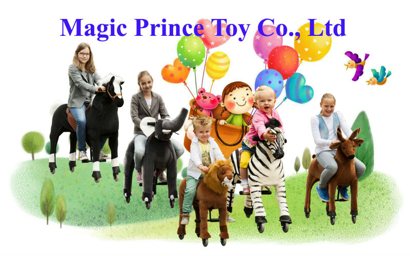 (EN71&ASTM&CE)~(Pass!!)~ Dalian Port Walking animals horse plush ride on toy/Animal scooter in mall/Yellow Tiger/Magicprince