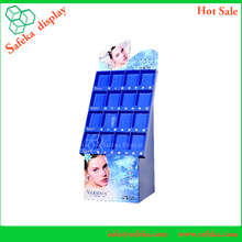16 cells cosmetics cardboard floor display stand
