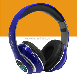 Foldable Bluetooth Headphones Wireless with LED light FM TF card slot