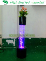 LED waterfall fountain with LED flower for wedding decorations