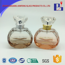 Junfeng 80ml Widely used car heart shaped perfume glass cosmetic bottle