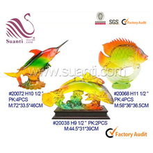 Resin fish figurine craft animal statue for home decorative crafts