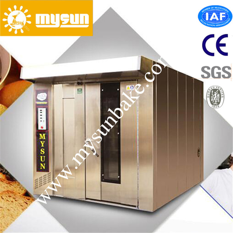OEM Factory 64 Trays Gas Type Rotary Bakery Bread Baking Oven