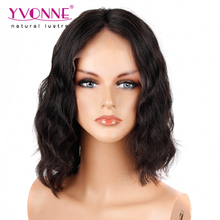 Alibaba Trade Assurance New Style Yvonne Brazilian Body Wave Short Virgin Human Hair BOB Lace Front Wig for Black Women
