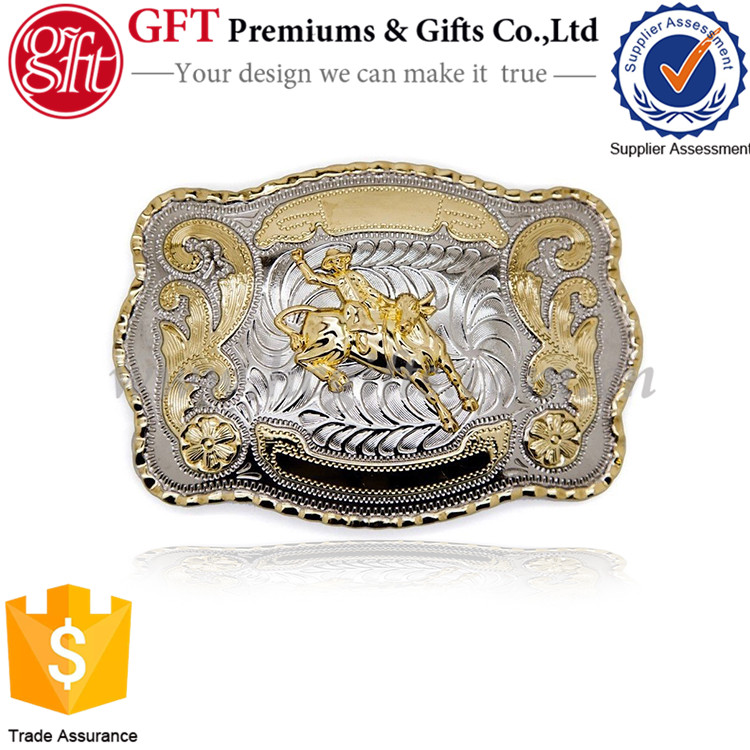The Original Style of the Western Rodeo Type Bicolor Belt Buckles