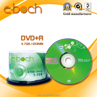 Blank DVD+R 16X, empty DVD Disc with Factory Direct Price