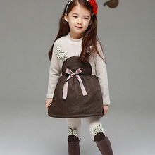 M60720A girl clothes 2 pieces cute design korean style fashion children
