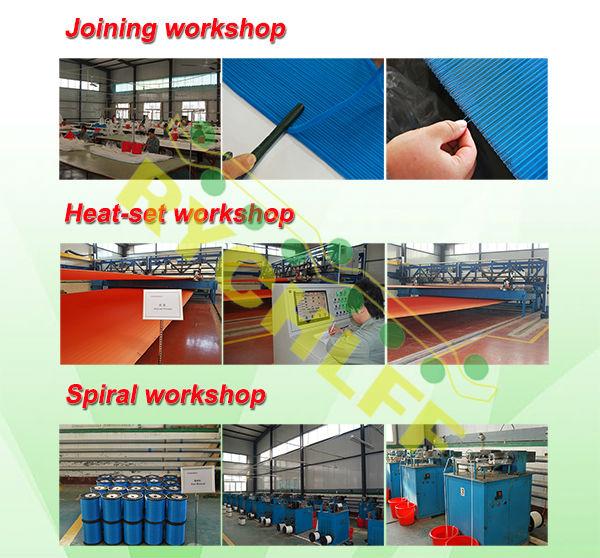 Espiral secador de feltro/tela para fabricação de papel