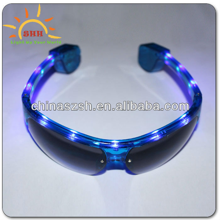 Wholesale Half Frame Led Flashing Party Sunglasses