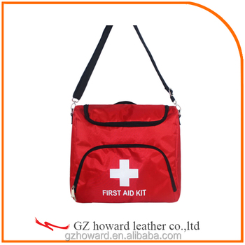Red cross emergency bag and first aid kit